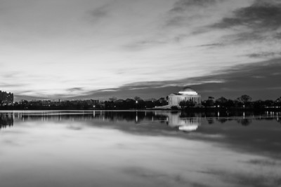 Tidal Basin Sunrise: Wide