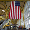 Old Glory in wide-angle, Reagan Washington National Airport - Washington DC