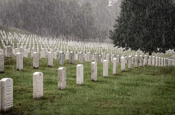 Arlington Cemetery Rain August 2017