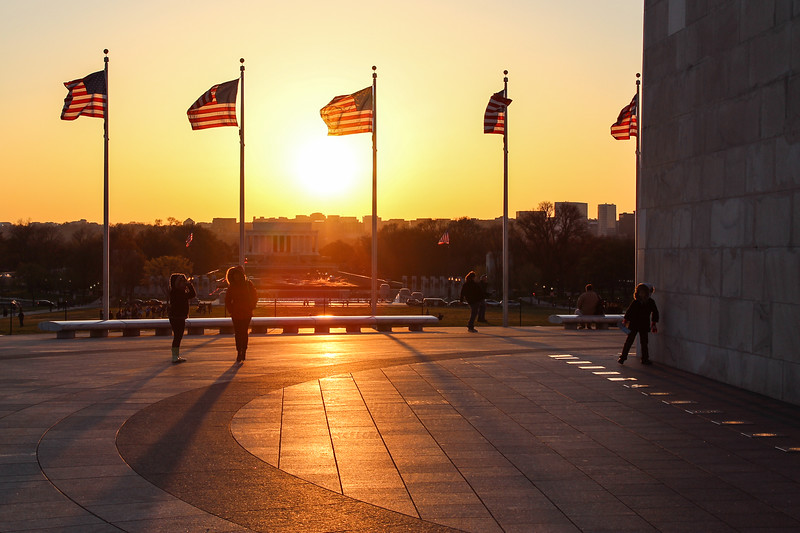 National Mall: Last Rays of Sun