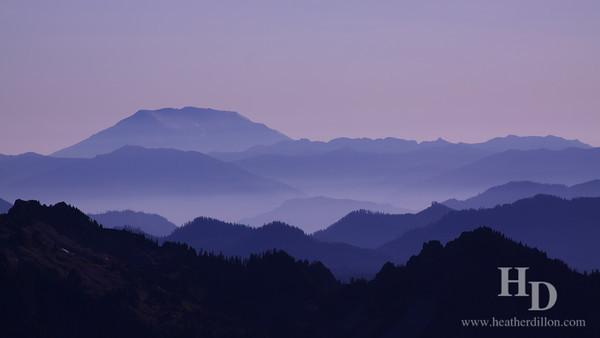 Mt. St. Helens viewed from Mt. Rainier.