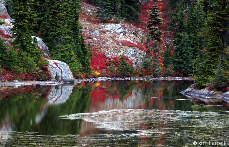 Cathedral Pass reflection.  Alpine Lakes Wilderness.
