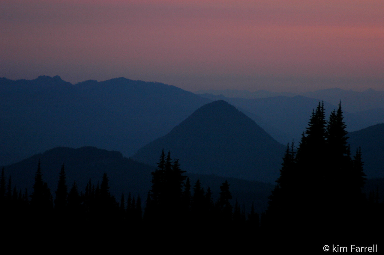 Cinder cone. Mt. Rainier National Park.