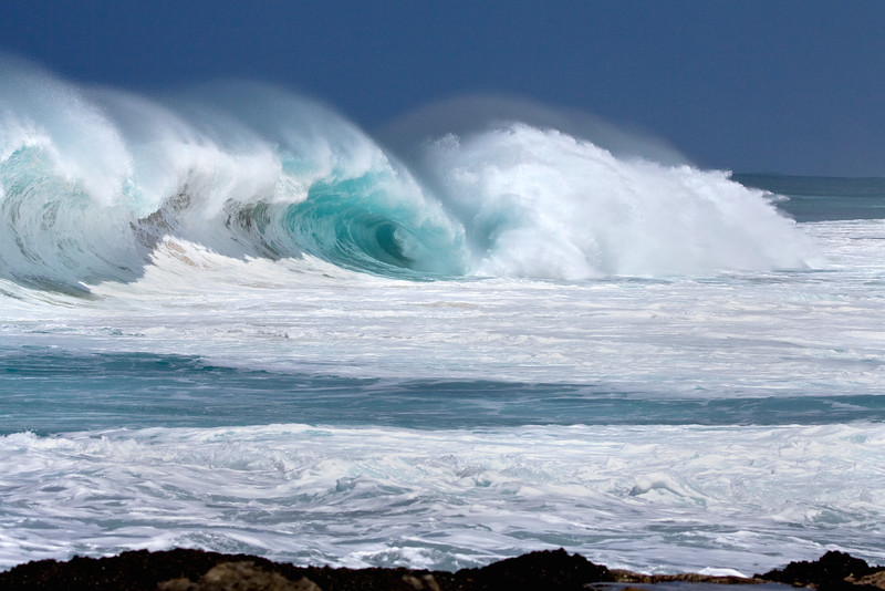 The power of the ocean.