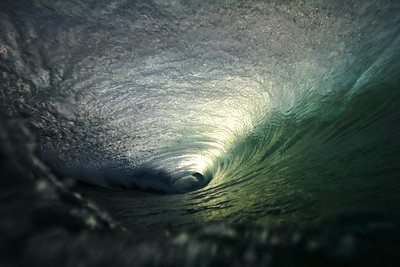 Late evening barrels can be the ones that you want to wait for. The light through the pitching lip can make for a unique experience if you're willing to stay out through sunset.