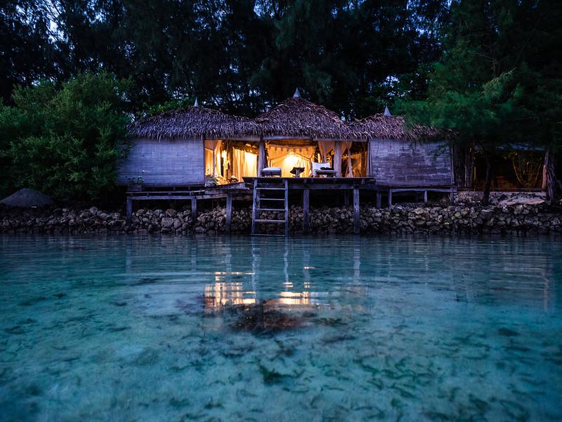 Waterfront hut, Indonesia