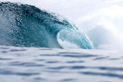 Deep blues invite surfers at Backdoor.