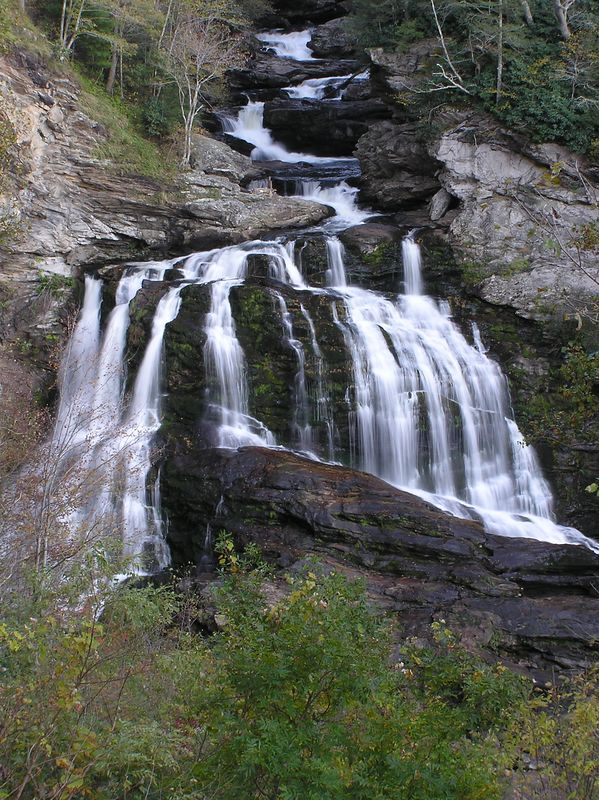Cullasaja Falls in mid-October