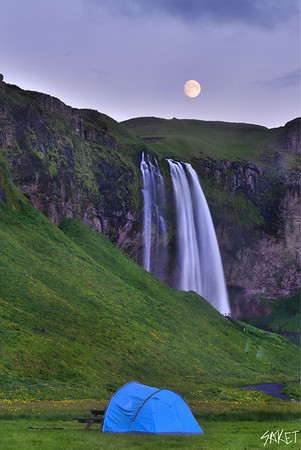 Seljalandsfoss Moonrise