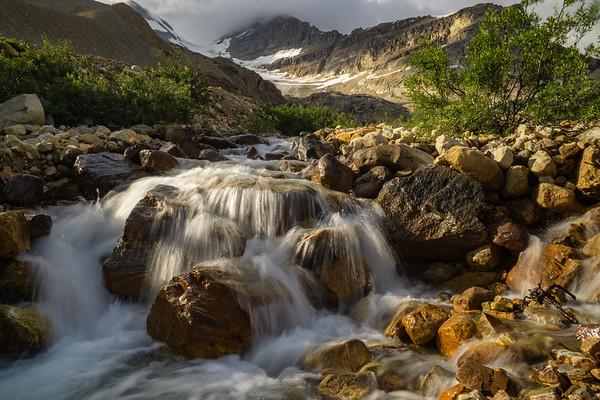 Sun-kissed Glacier Creek