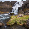 "<H3> Dynjandi </H3> Dynjandi Falls is located in the remote Westfjords region of Iceland - its hard to call it ""a"" waterfall...its more like a waterfall system with countless cascades tumbling down the cliff and every one of them give it a totally different look....I started by climbing to the very top where the biggest section is and worked my way down."