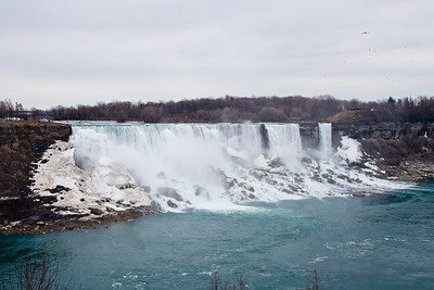 American Niagara Falls, New York, taken from Rainbow Bridge to Canada