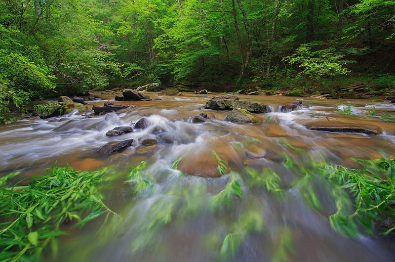 Flint Creek after a summer rain Flint Creek, Alabama