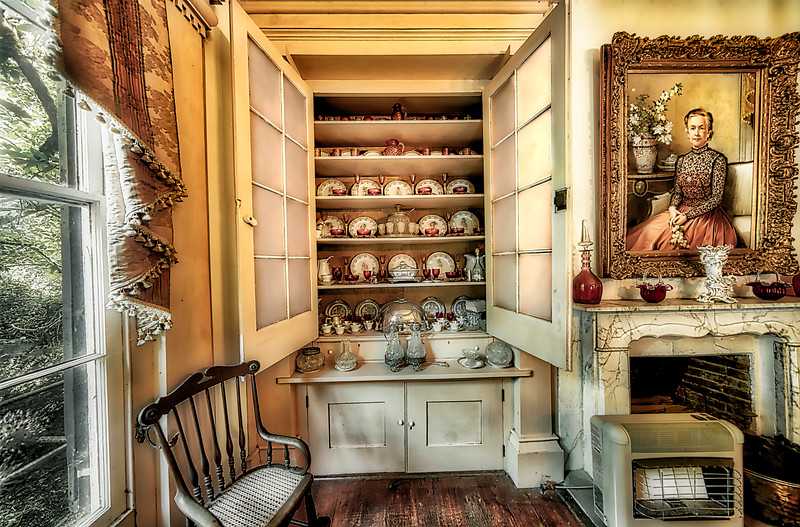 Madonna Snow and China Cabinet
