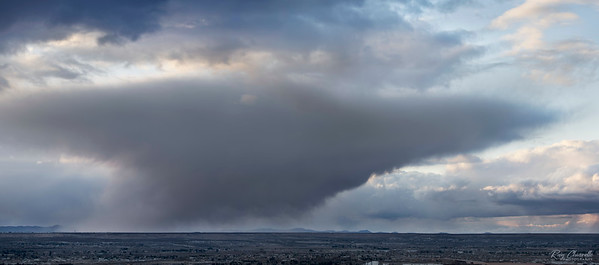 Storm over El Paso's Upper Valley and Southern New Mexico