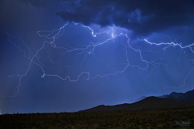 Lightning over El Paso's Franklin Mountains.