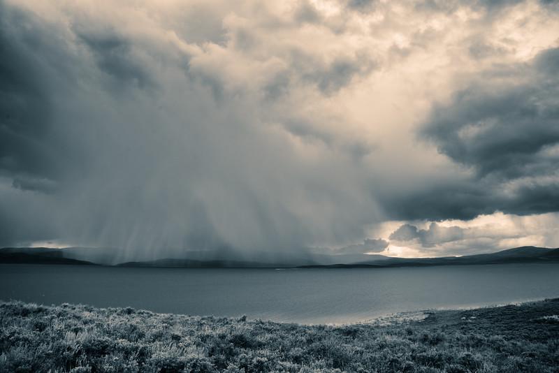 Rainstorm in Carbon County, UT