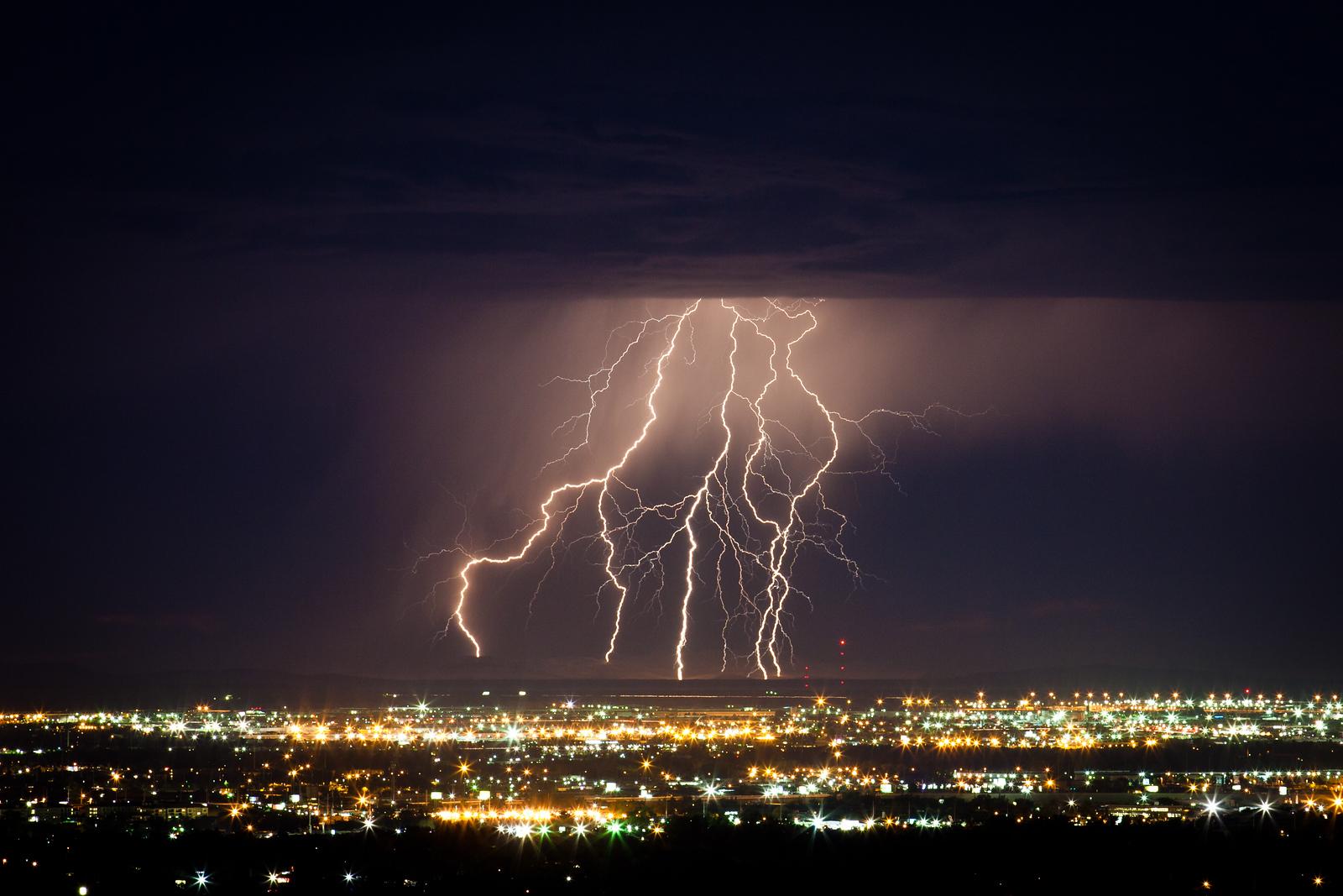 Lightning over Salt Lake CIty
