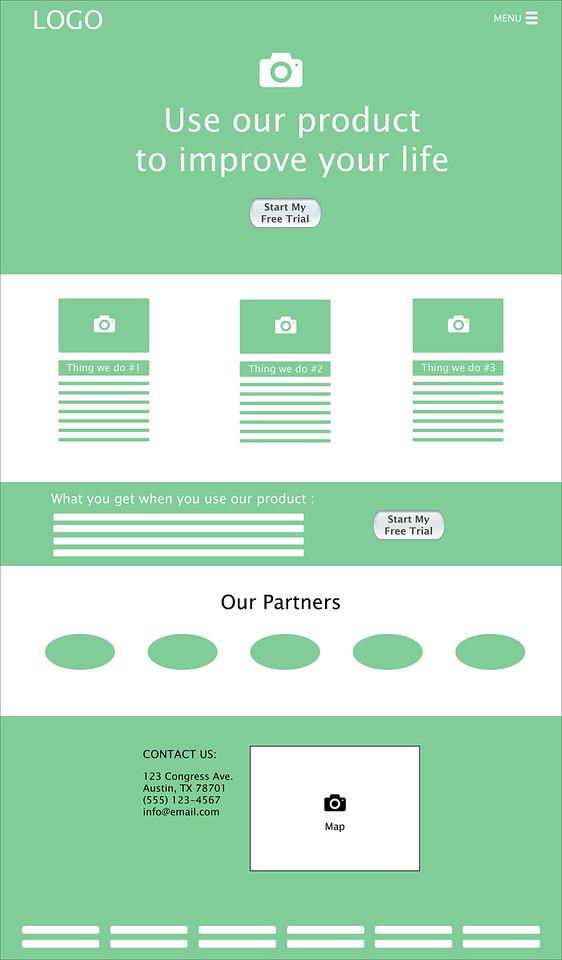 Sample Landing Page (Web)