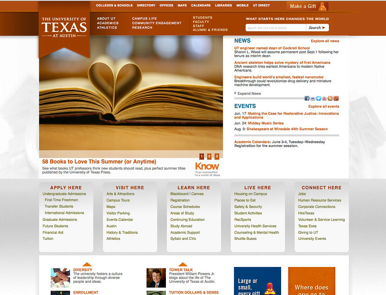 Original Site Home Page