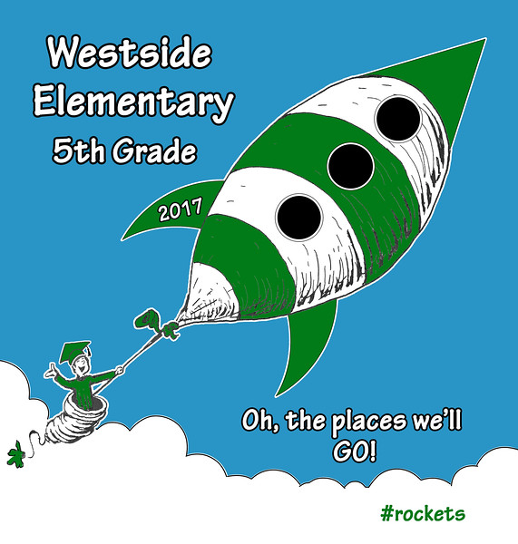 5th Grade graduation shirt for Westside Elementary (Cedar Park, TX)