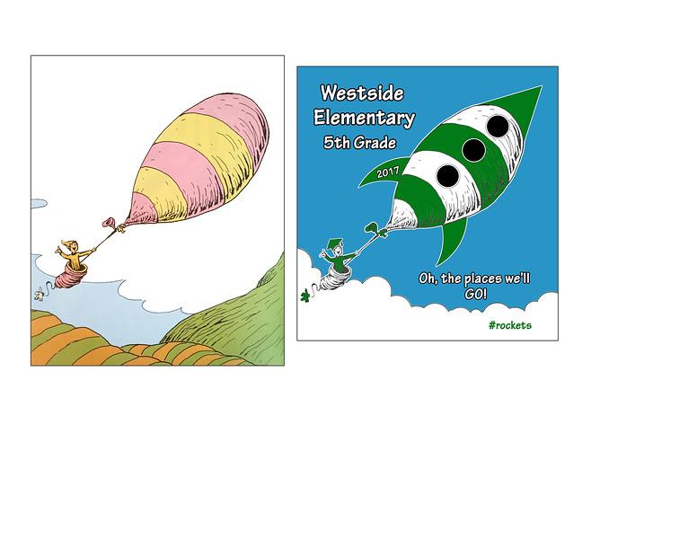Original Dr. Seuss image vs. Julia Durall image