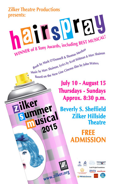 "Poster for Zilker Summer Musical Show, ""Hairspray"" (spec project)"