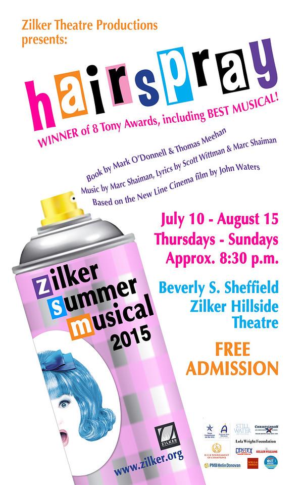 "Poster for Zilker Summer Musical Show, ""Hairspray"" (spec project)"