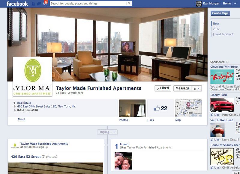 Taylor Made Furnished Apartments - Facebook Page