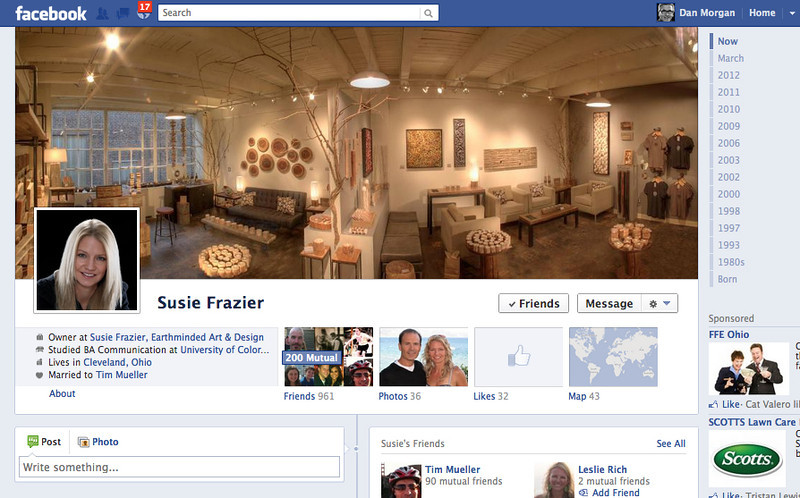 Susie Frazier - Facebook Home Page, Header and Profile Picture.