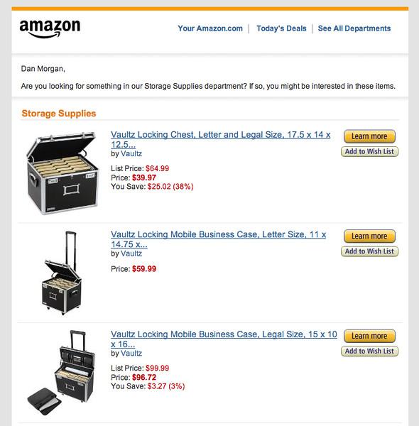 Vaultz on Amazon