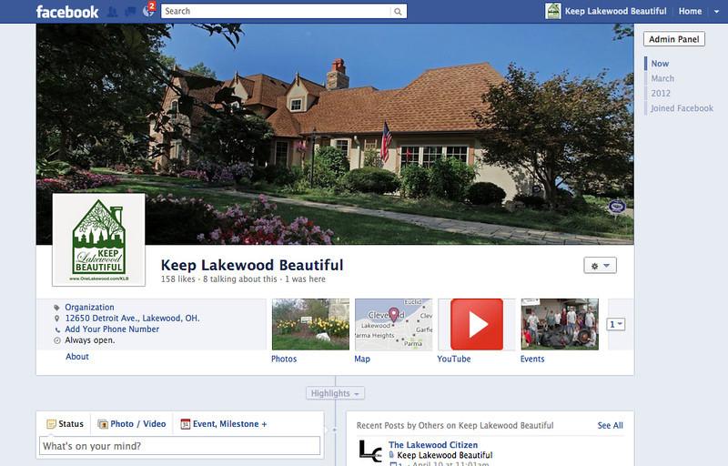 Keep Lakewood Beautiful - Facebook Page