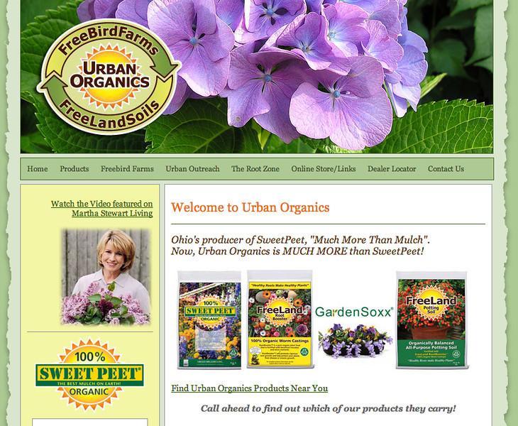 Urban Organics Web Site