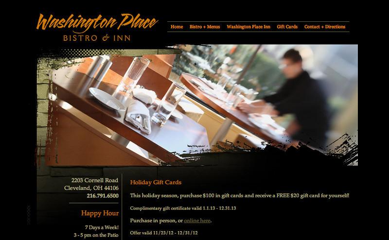 Washington Place Bistro - Web Page