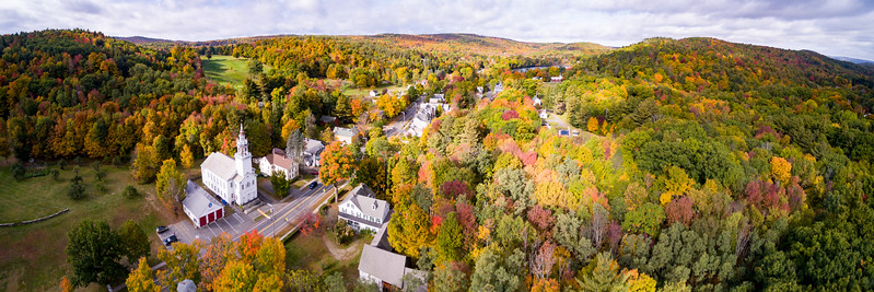 Drone pix of Ashfield in the fall 2016