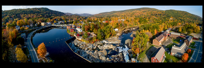 Aerial View of Shelburn Falls and Buckland MA