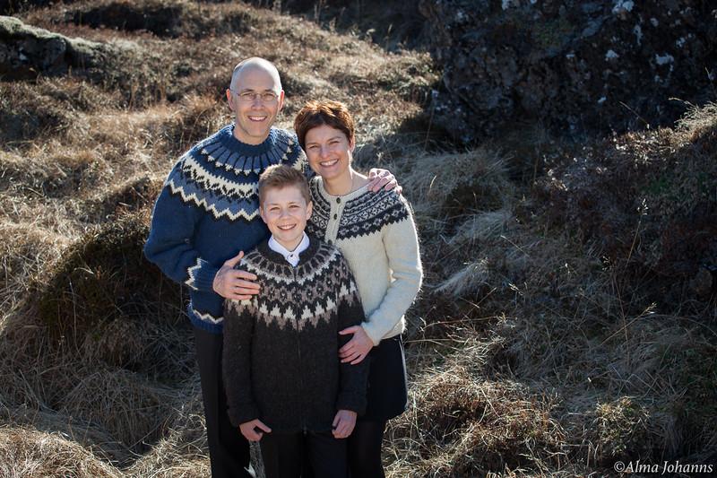 Birkir Reynirsson og fjölskylda