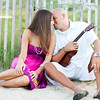 Beach ukelele engagement ponte vedra photographer