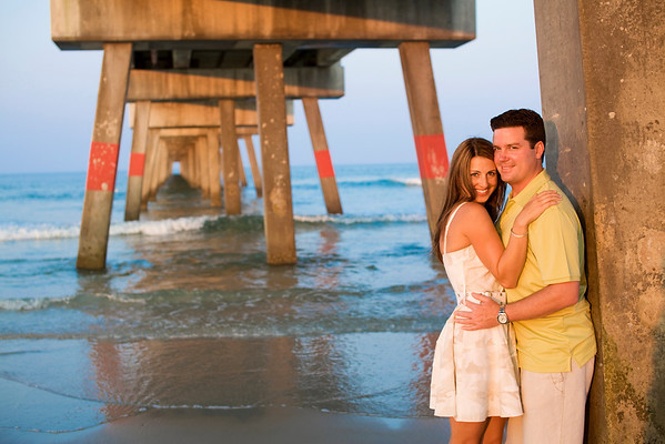 Jacksonville beach pier engagement photographer