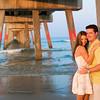 Jacksonville beach pier engagement photographer