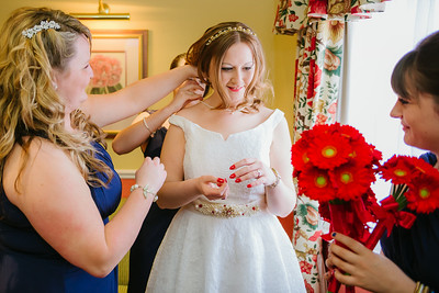 Bridal Preparations at The George Hotel Lichfield