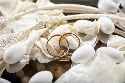 wedding crowns and rings