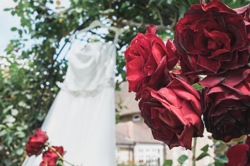 wedding dress rose