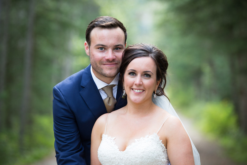 canmore wedding photo formal portrait of couple