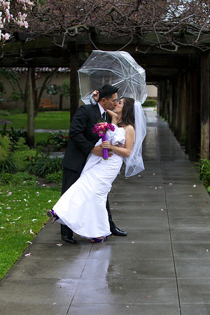 Freedom Hall Wedding Photography Rainy Day Wedding photography Mission Santa Clara Wedding photography