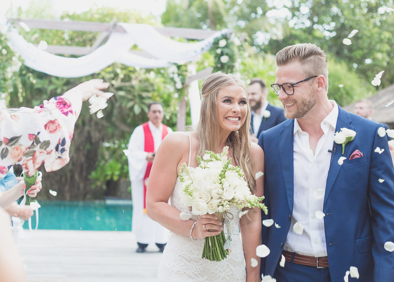 A wedding in the tropical paradise of Bali, Indonesia