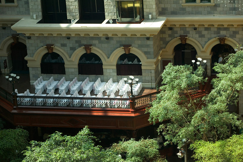 Sam's Town, Las Vegas, NV.  Closeup of the balcony where the wedding took place.