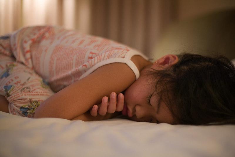 Flower girl is still asleep at 07:00.  Wedding was at 09:00.