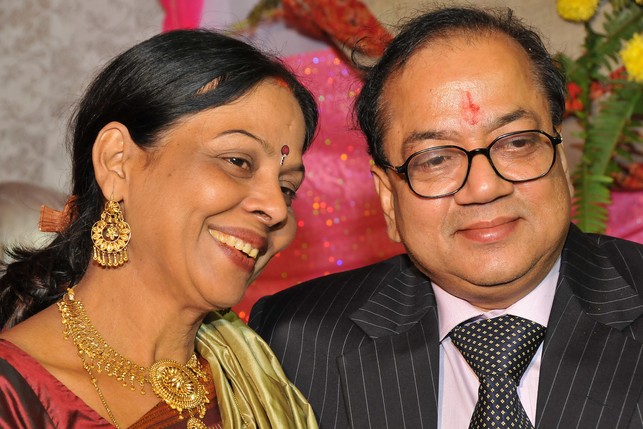Manjula & Anil Kumar (parents of Nimisha) in the wedding of Nimisha & Piyush Seth at Patna. Feb, 2008.