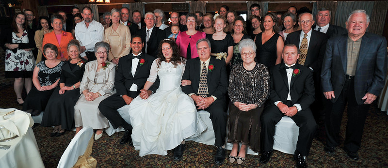 Wedding guests group photo